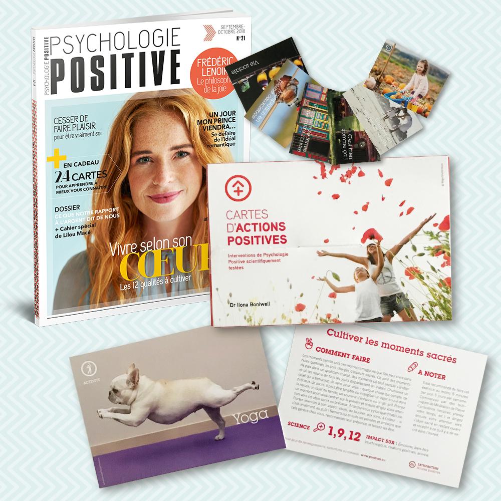 Offre d'abonnement 1 an - 6 numéros + les cartes d'Actions Positives Positran
